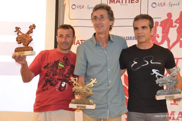 Víctor Fernández, José Enguix e Antonio Ortega.