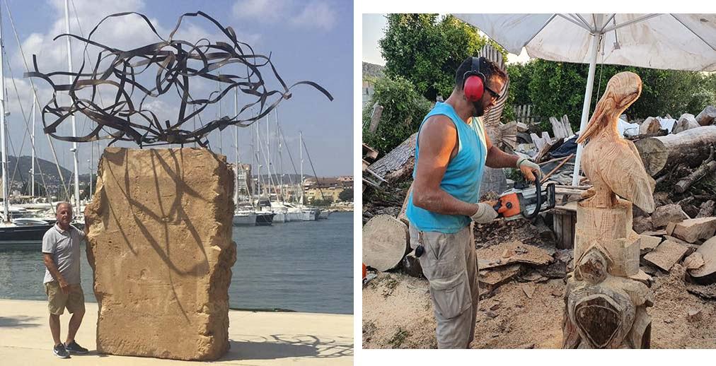 Artistas de Xàbia con su obra