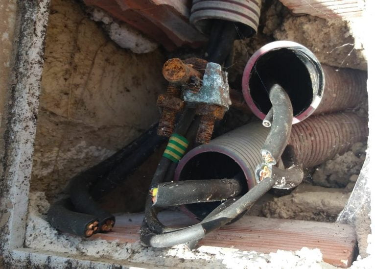 Robo de cableado en Benitatxell
