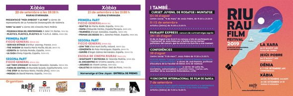 Imagen: Programa de actividades Riurau Film Festival