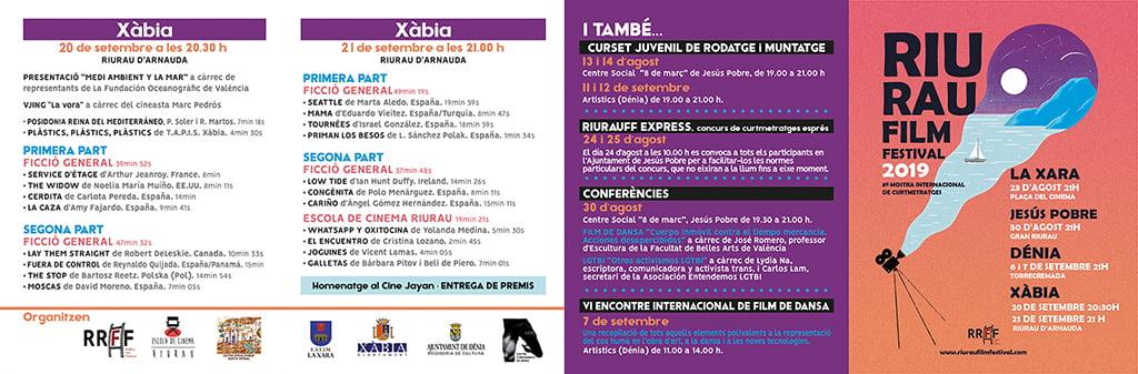 Programa de atividades do Festival de Cinema de Riurau
