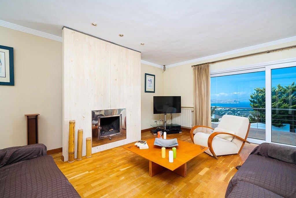 Sala d'estar en un xalet de lloguer a Xàbia - Aguila Rent a Vila