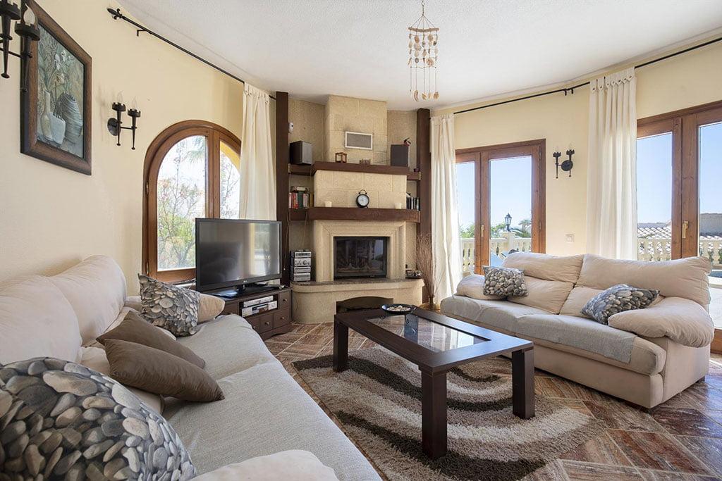 Saló d'una casa de lloguer de vacances a prop de Xàbia - Quality Rent a Vila