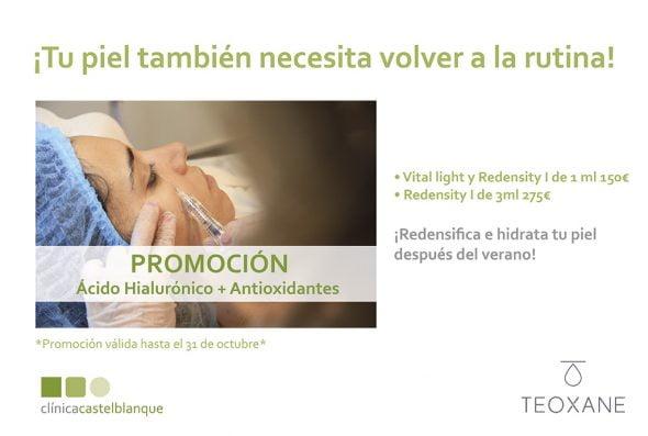 Imagen: Promoción de tratamiento de ácido hialurónico en Dénia - Clínica Estética Castelblanque