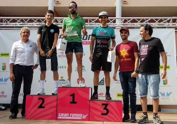 Imatge: Ade Moll al podi de la Marxa Alberto Contador