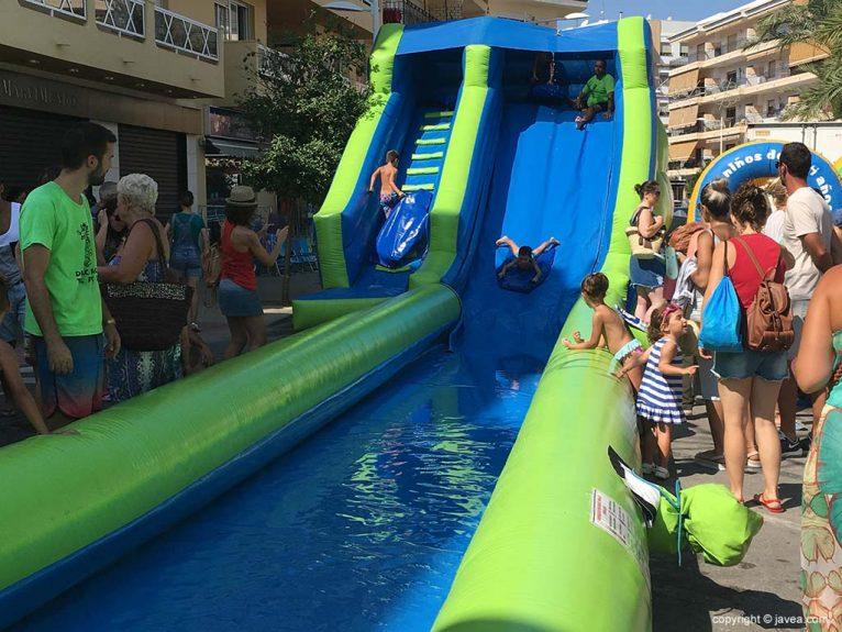 Aquajocs en las Fiestas de Loreto de Xàbia 2019