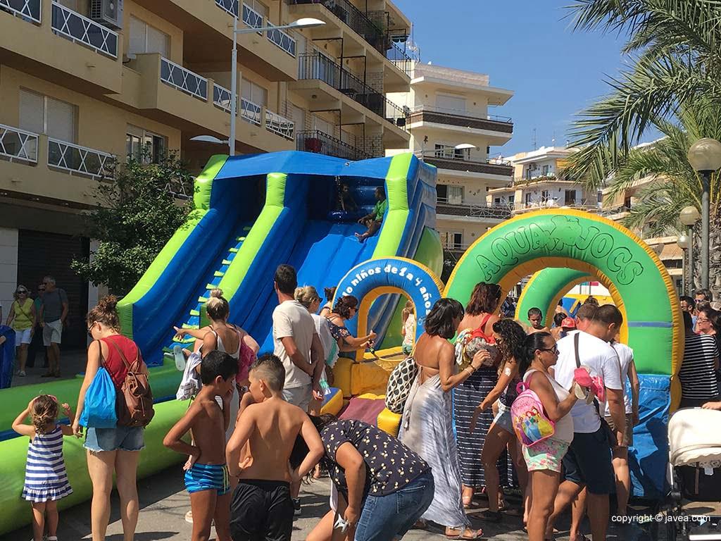Aquajocs en fiestas de Xàbia