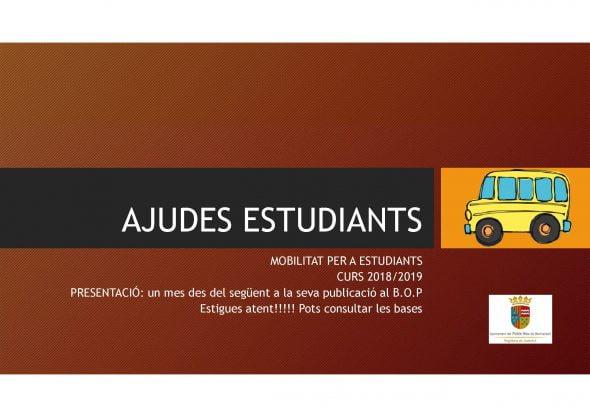 Imatge: Ajudes de transport als estudiants de Benitatxell