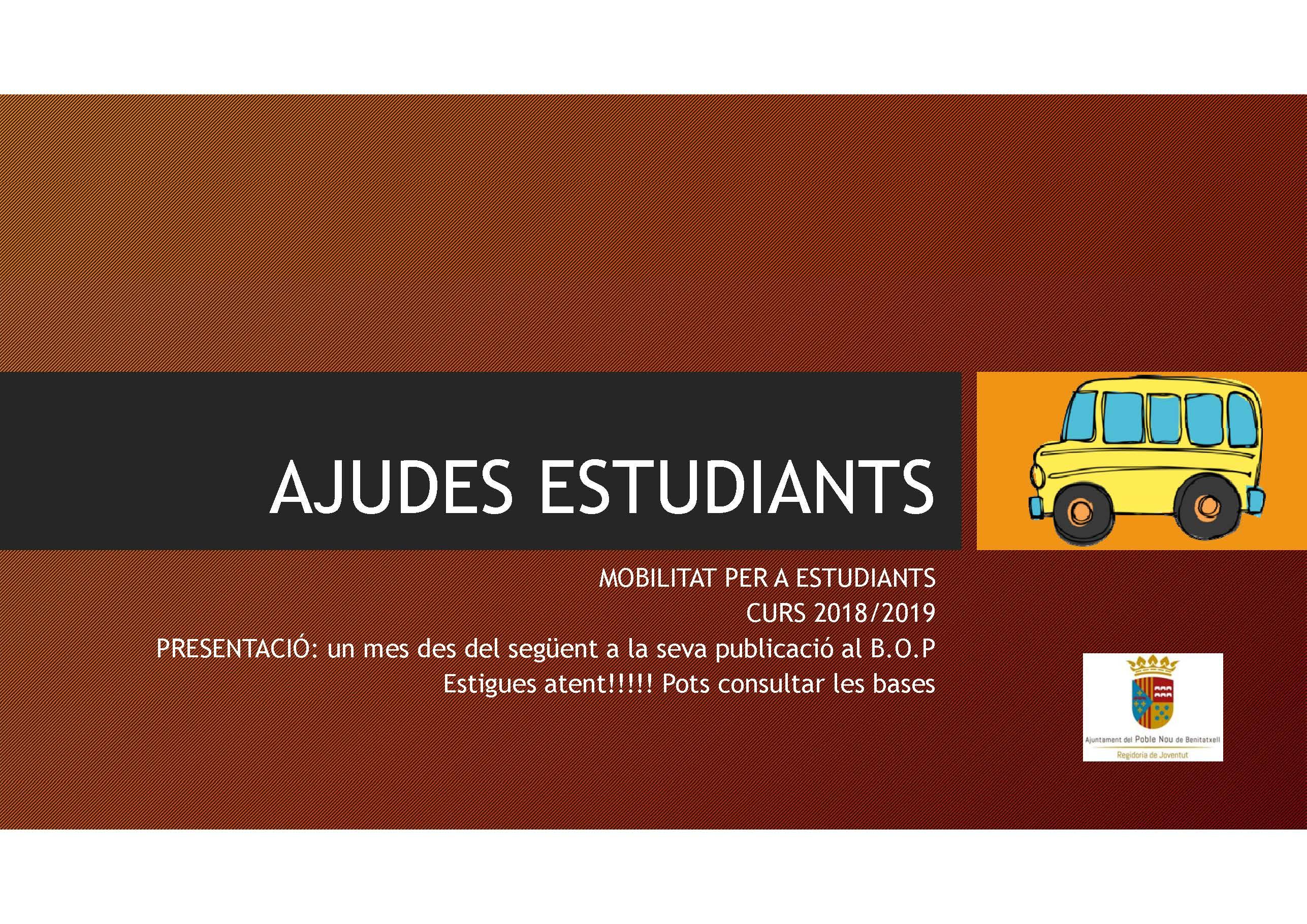 Auxílios de transporte para estudantes Benitatxell