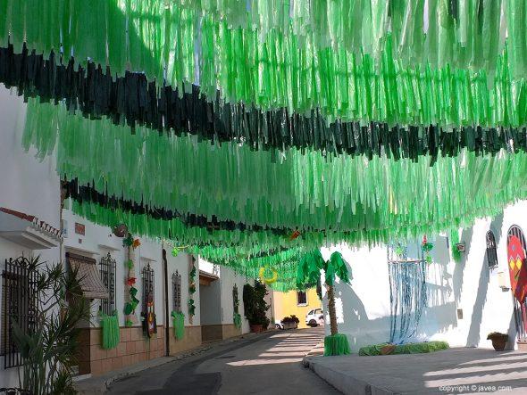 Imagen: Calle Bartolomé Ros engalanada como una selva