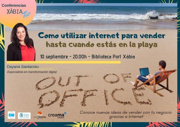 Imatge: Xerrades TIC- Beachworking a Xàbia