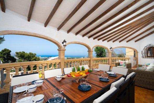 Imagen: Comedor exterior en chalet en alquiler en Jávea - Aguila Rent a Villa