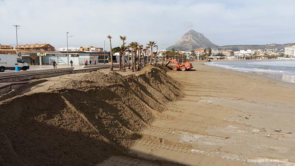 Dique de la playa Arenal construido en 2017