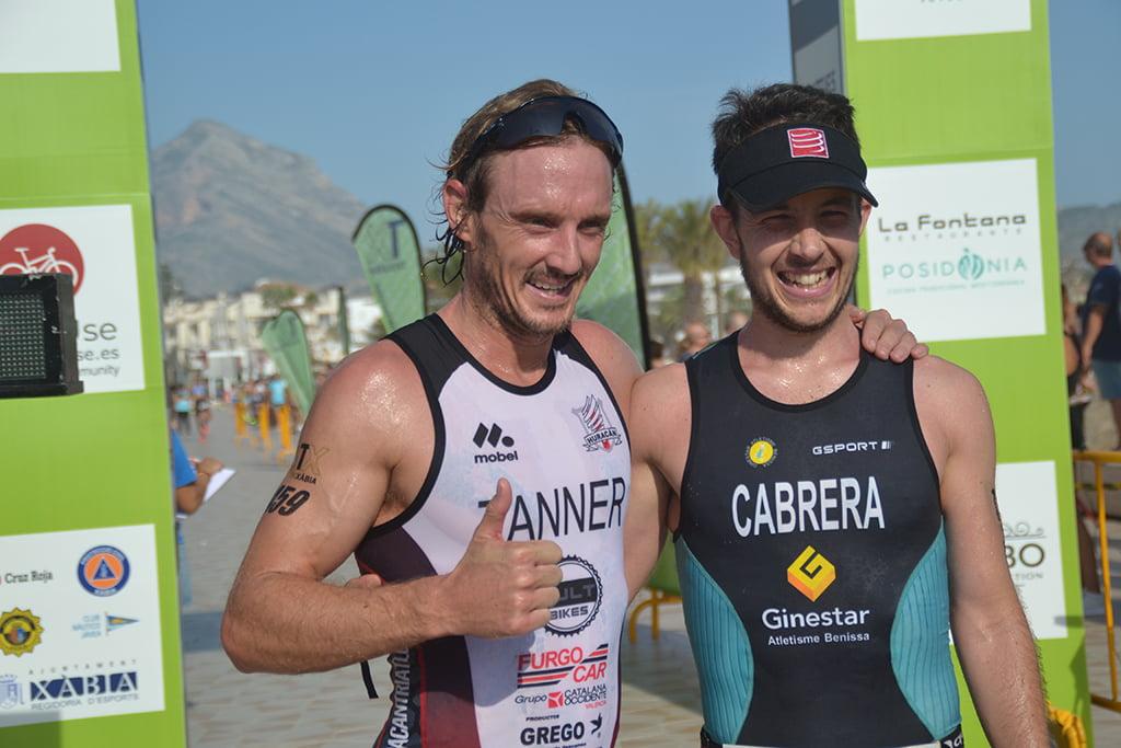 Los dos primeros clasificados Triatlón Olímpico