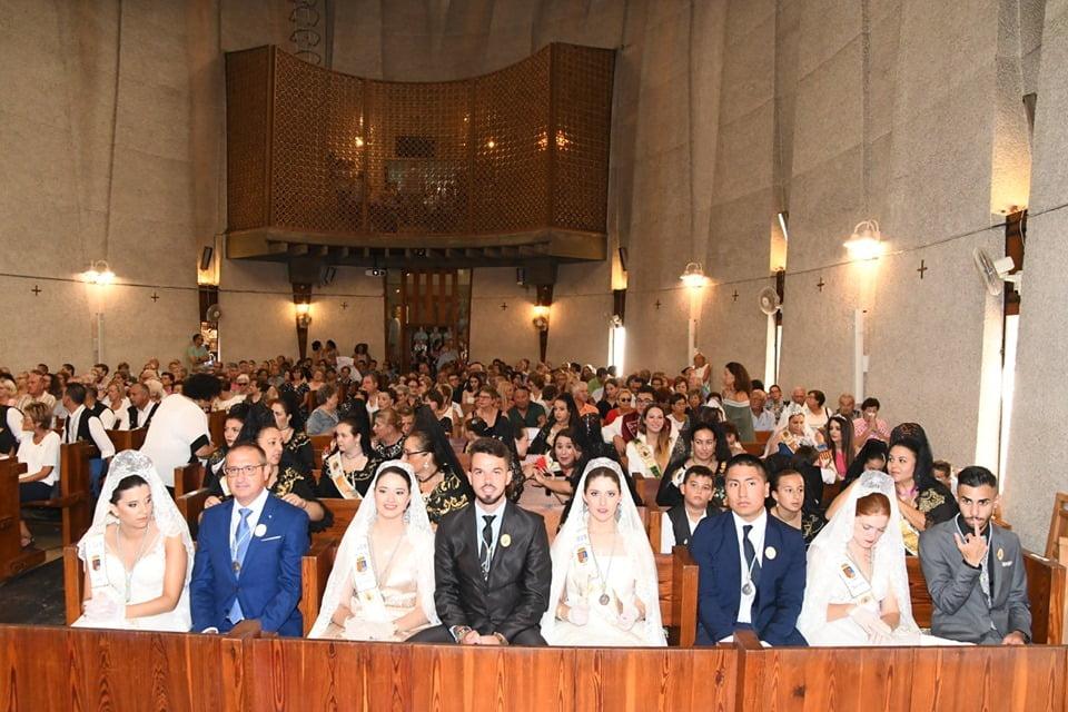 Sindaci e vicini alla messa in onore della Vergine di Loreto