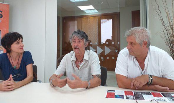 Image: Mili Sánchez, Mike Steel et Quico Moragues lors de la présentation de Ojos Rojos
