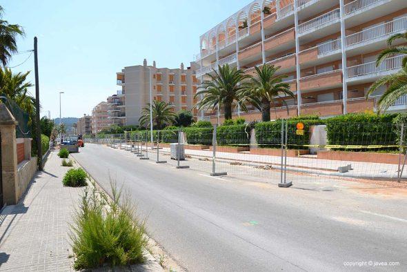 Obras de la Avenida Ultramar de Xàbia