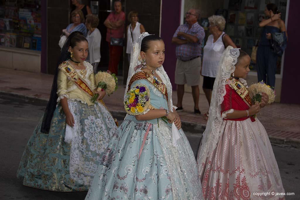 Reina i dames infantils 2019 de les Fogueres de Sant Joan