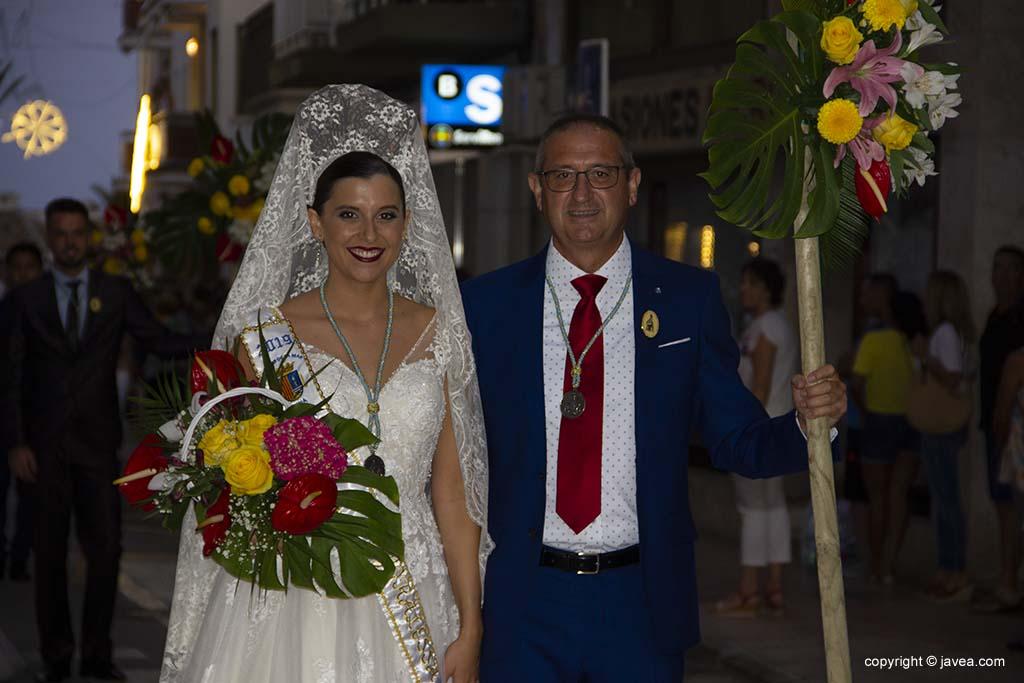 Majorals 2019 en l'ofrena de flors