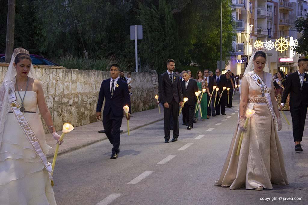 Mayorales 2019 nella processione del patrono