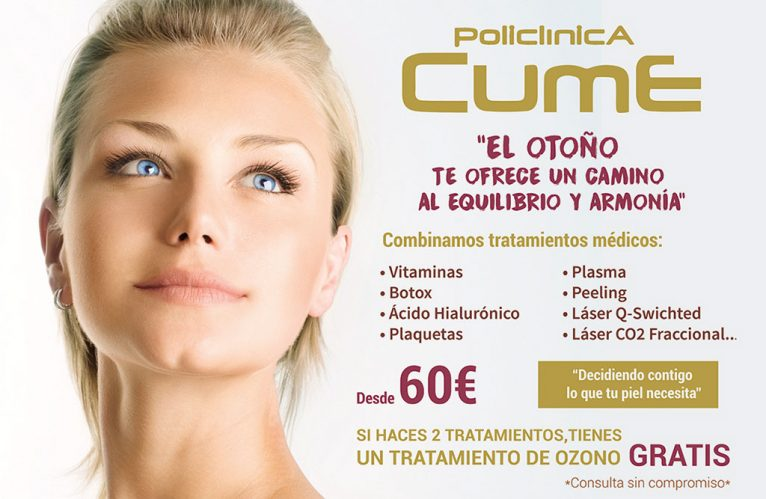 Promotion aesthetic medical treatments from 60 € in Jávea - CUME Polyclinic