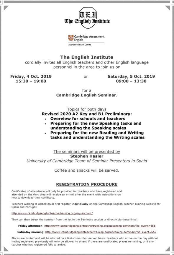 Imagen: Seminario para profesores de inglés - The English Institute
