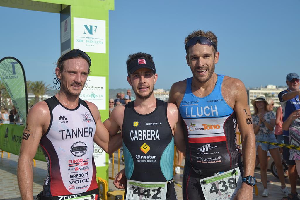 Tanner junto a Cabrera y José Lluch podio olímpico
