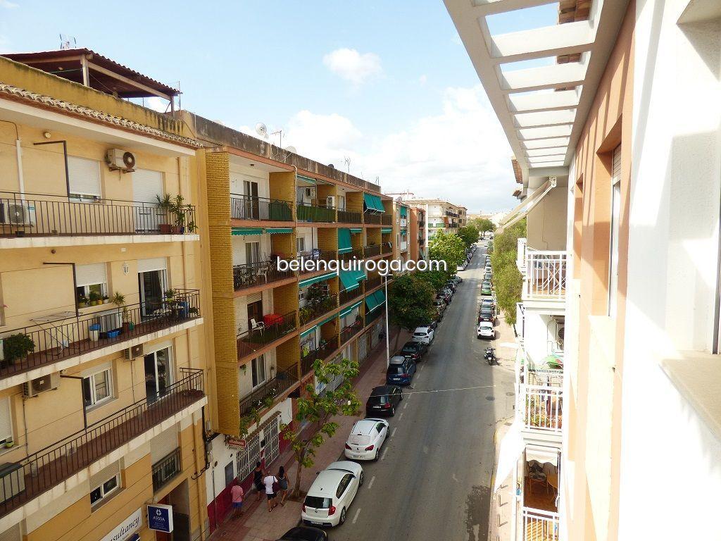 Vista da rua a partir de um apartamento à venda em Jávea - Inmobiliaria Belen Quiroga
