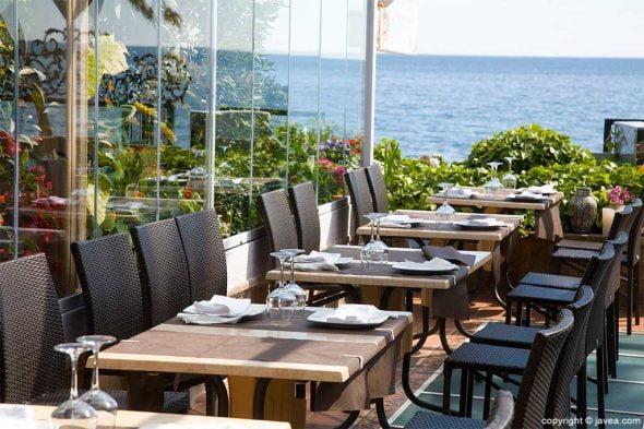 Image: Terrace with sea views in Jávea - Pepe y Estrella Restaurant