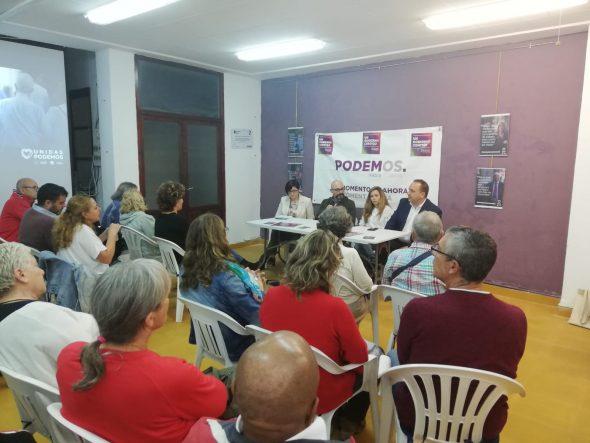 Bild: Akt von Podemos vor den Parlamentswahlen