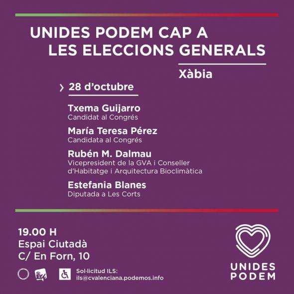 Imatge: Acte de Pre-campanya de Podem Xàbia
