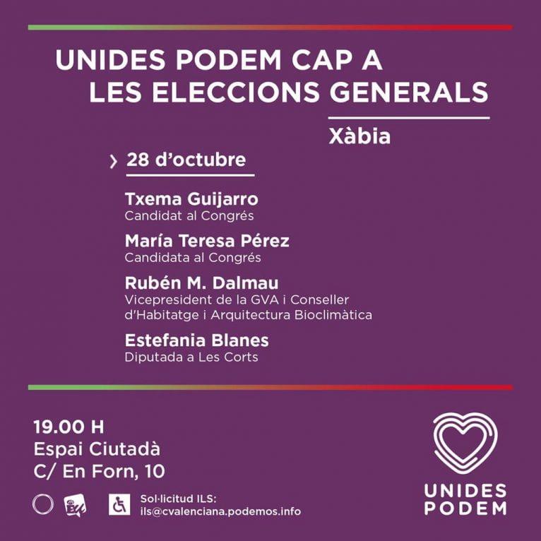 Acto de Pre-campaña de Podemos Xàbia