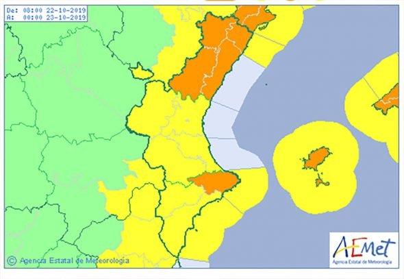 Image: Aemet active l'alerte de pluie orange