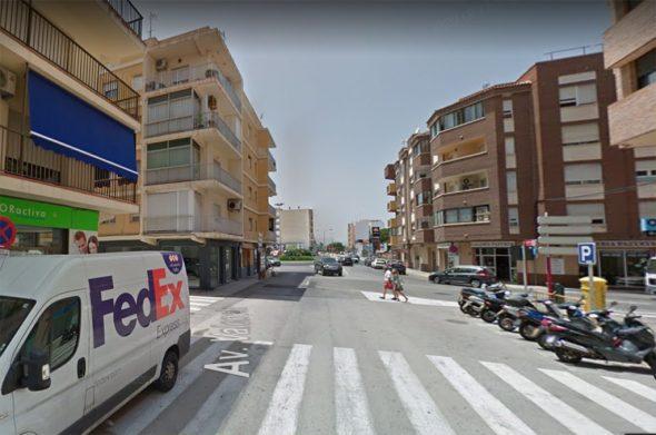 Imagen: Avenida Valencia de Dénia donde ha sucedido el crimen