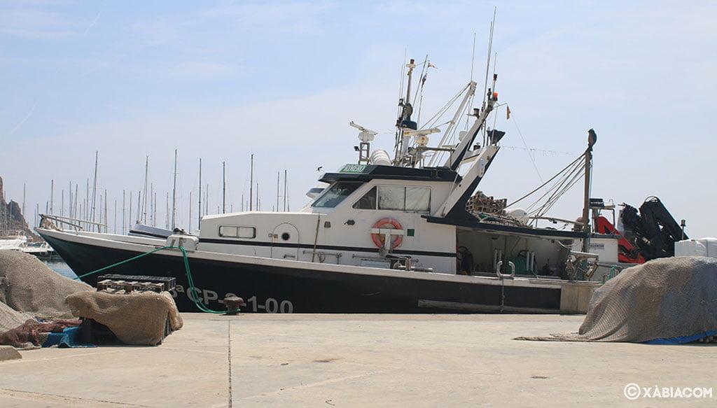 Barco de pesca de La Cantina de Jávea