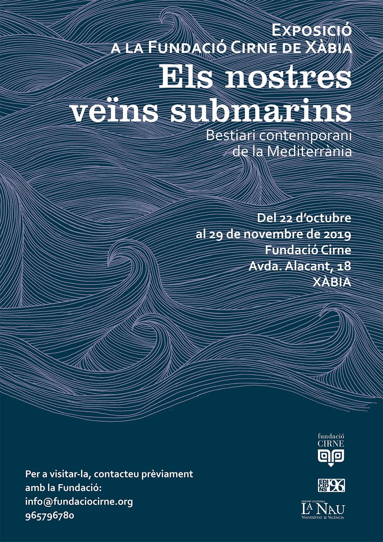 Cartel de la exposición sobre fondos marinos en la Funación Cirne