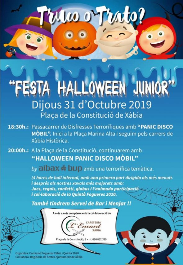 Immagine: 2019 Halloween Party Poster in Xàbia