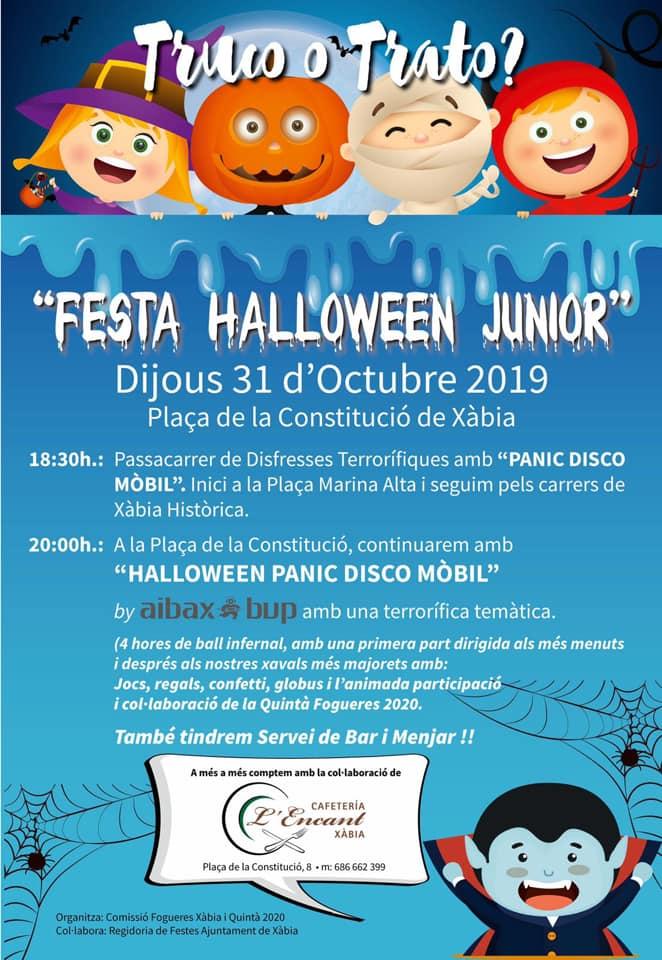 Manifesto della festa di Halloween 2019 a Xàbia