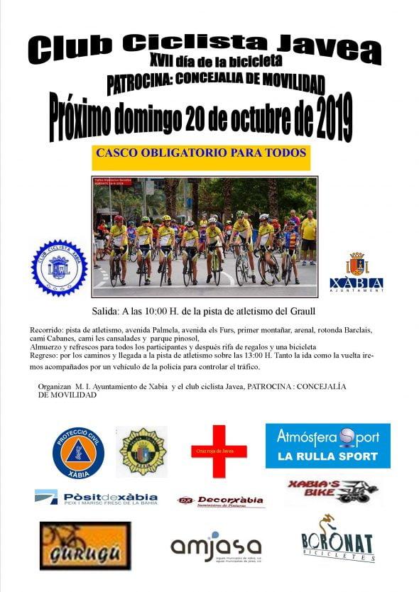Imagen: Cartel del Día de la Bicicleta Xàbia 2019