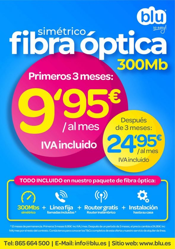 Imagen: Oferta de fibra óptica en Jávea - Blu