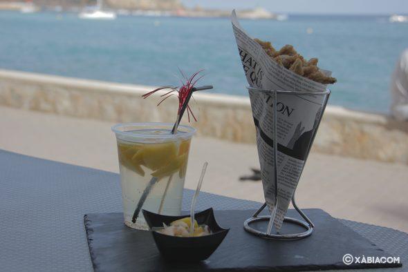 Bild: Shrimp Ceviche mit Mango und gebratenen Sardellen von Piri-Piri