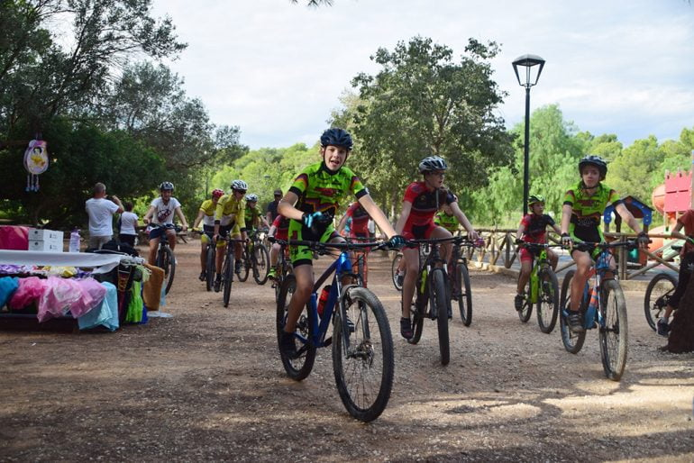 Fietsers op Xàbia Bicycle Day