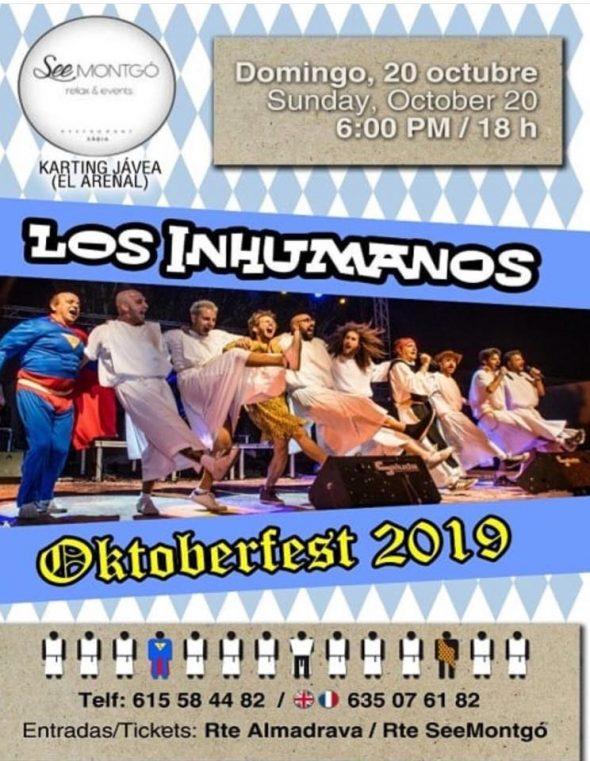 Imagen: Concierto de los Inhumanos en la Oktoberfest de Xàbia