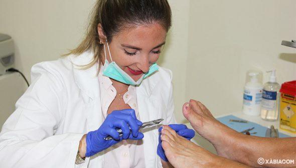 Imagen: Tratamiento en Podología Ana Belén Ivars Buigues