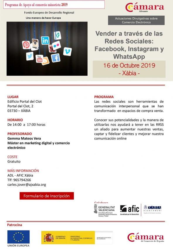 Imagen: Curso de redes sociales a comercio minorista
