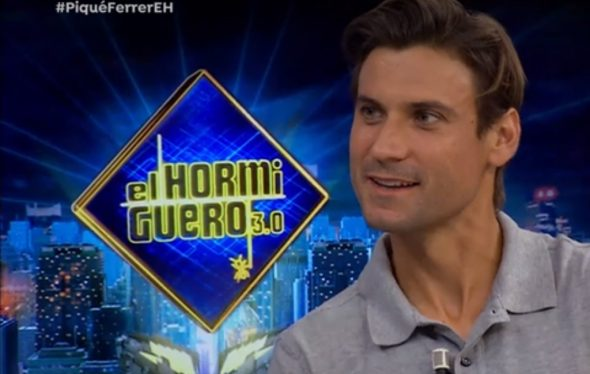 Image: David Ferrer at the Hormiguero