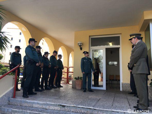 Imagen: El teniente de la Guardia Civil,  Javier Soliveres durante el acto