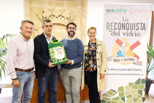 Immagine: consegna al Trabuquers Filà il premio Ecovidrio