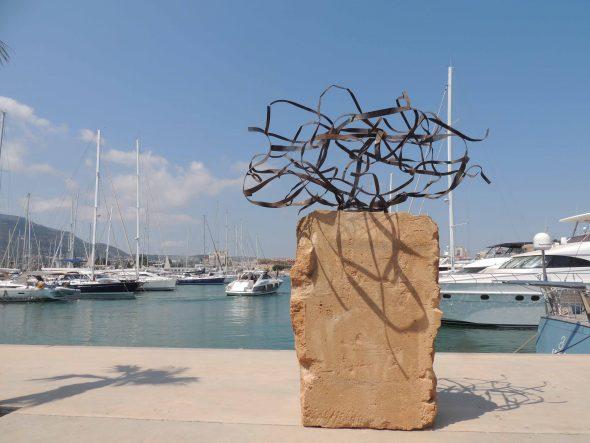 Imagen: Escultura ' Colp de mar' que ha ganado el primer premio