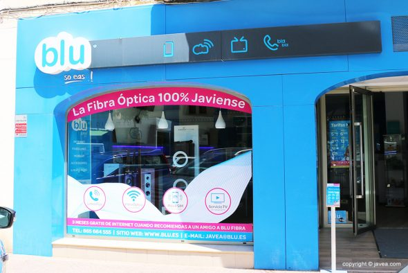 Image: Fiber optic in Jávea, Blu facade